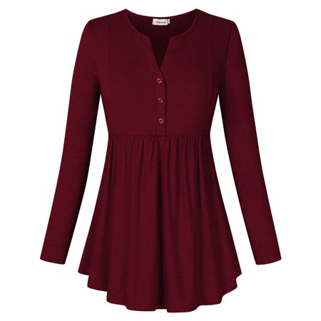 Womens Flared Comfy Loose Fit Tunic Top