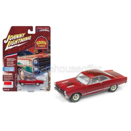 JOHNNY LIGHTNING 1:64 MUSCLE CARS USA 2018 RELEASE 1 VERSION B - 1966 FORD FAIRLANE GT (SIGNAL FLARE RED)