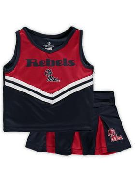 Ole Miss Rebels Colosseum Girls Toddler Pom Pom Cheer Set - Navy/Red