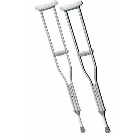 Underarm adjustable aluminum crutch, tall adult, 1pr
