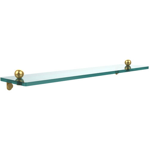 """22"""" Glass Vanity Shelf with Beveled Edges (Build to Order)"""