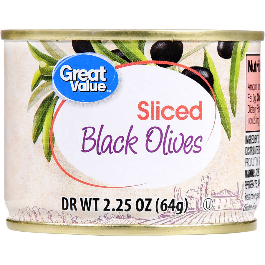Great Value Sliced Black Olives, 2.25 oz by Wal-Mart Stores, Inc.