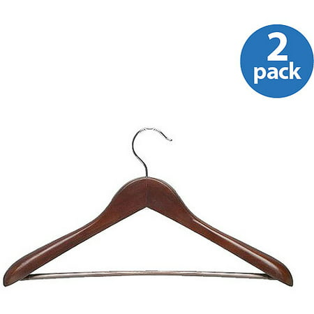 Honey Can Do Deluxe Contoured Suit Hangers with Non-Slip Bar, -