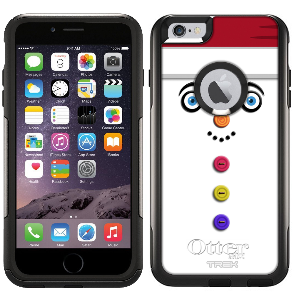 OtterBox Commuter Apple iPhone 6 Plus & iPhone 6S Plus Case - Buttoned Snowman Red Hat OtterBox Case