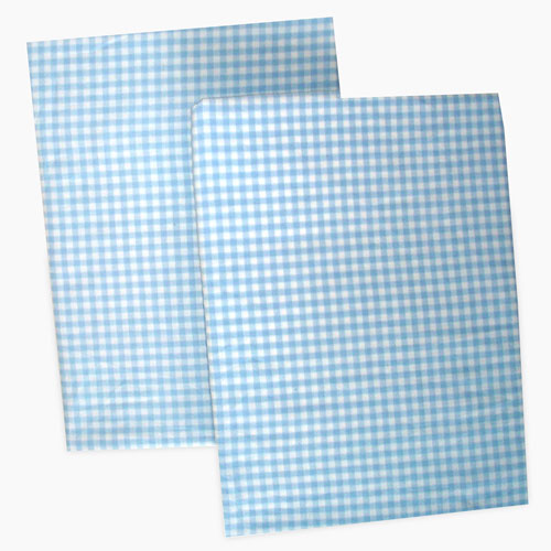 Seed Sprout Gingham Changing Pad Covers - Blue