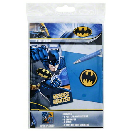 Batman Invitations - Batman Birthday Invitations