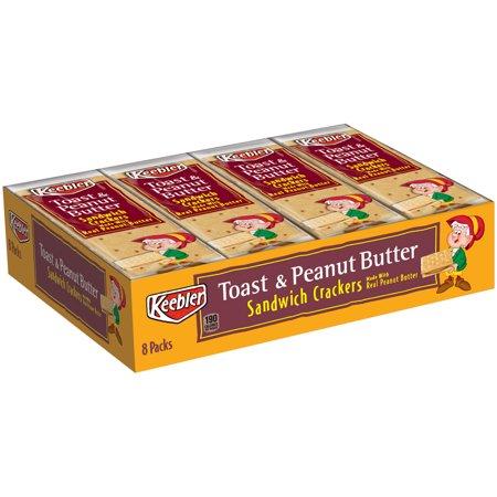 - Keebler Toast & Peanut Butter Sandwich Crackers, 1.38 Oz., 8 Count