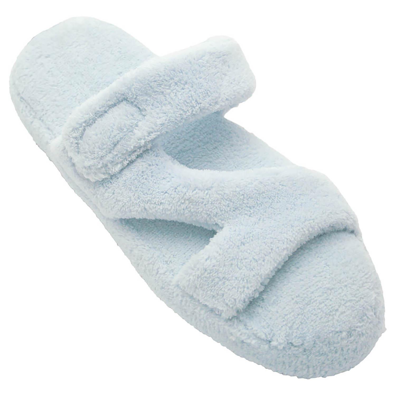 Dawgs Women's Fluffy Memory Foam Spa Bath Z Slippers Tiger Size 9-10
