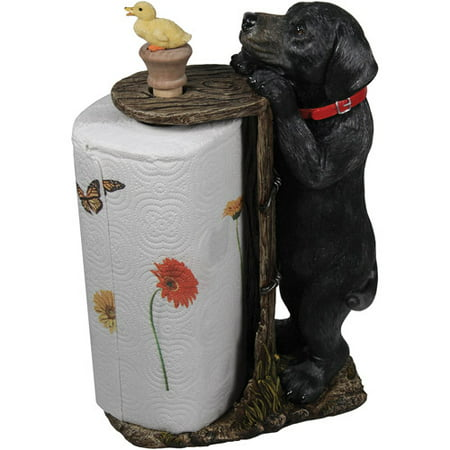 River's Edge Products Black Lab Paper Towel Holder