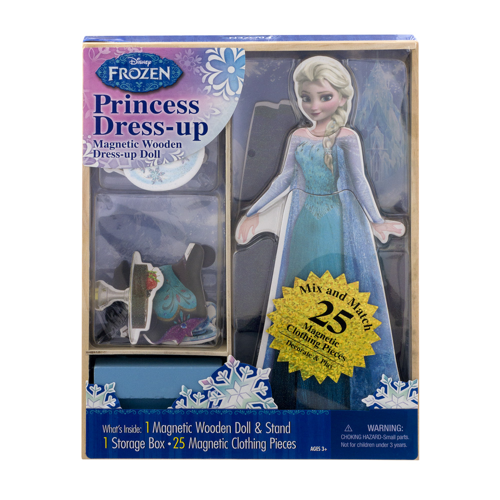 Disney Frozen Princess Dress-up Magnetic Wooden Dress-up Doll Kit, 1.0 KIT