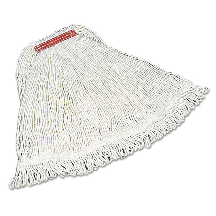 Super Stitch Rayon Mop Heads, Cotton/synthetic, White, Large