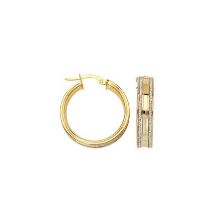 Gold Metal Glitter - LIGHTZ COLL 20MM DBL GLITTER ROW HOOP