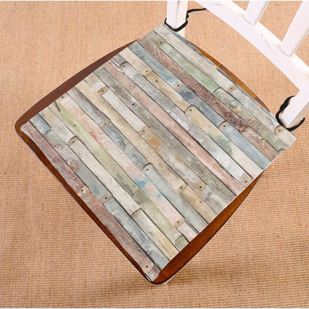 ZKGK Rustic Old Barn Wood Seat Pad Seat Cushion Chair Cushion Floor Cushion Two Sides 16x16
