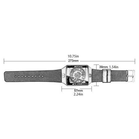 Hd Display Smart Watch Multi-Language Wechat/Qq/ Touch Screen Phone Watch - image 3 de 5