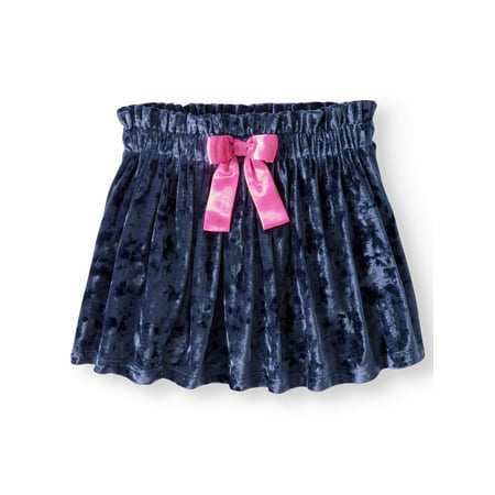 Girls' Velour Skirt with Bow - Batman Skirt