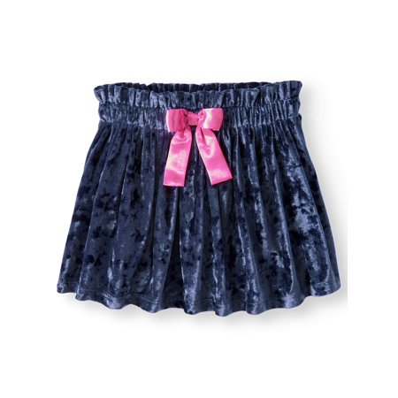 Girls' Velour Skirt with Bow - School Girl Skirt Costume