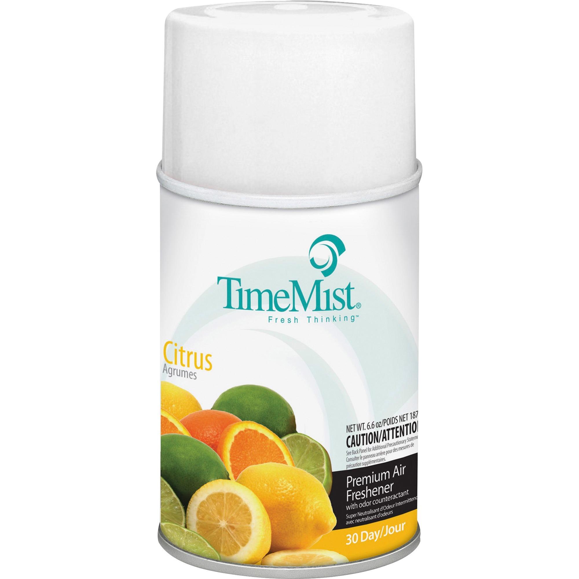 TimeMist, TMS1042781CT, Metered Dispenser Citrus Scent Refill, 12 / Carton, Clear
