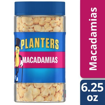 Planters Dry Roasted Salted Macadamias, 6.25 oz Jar