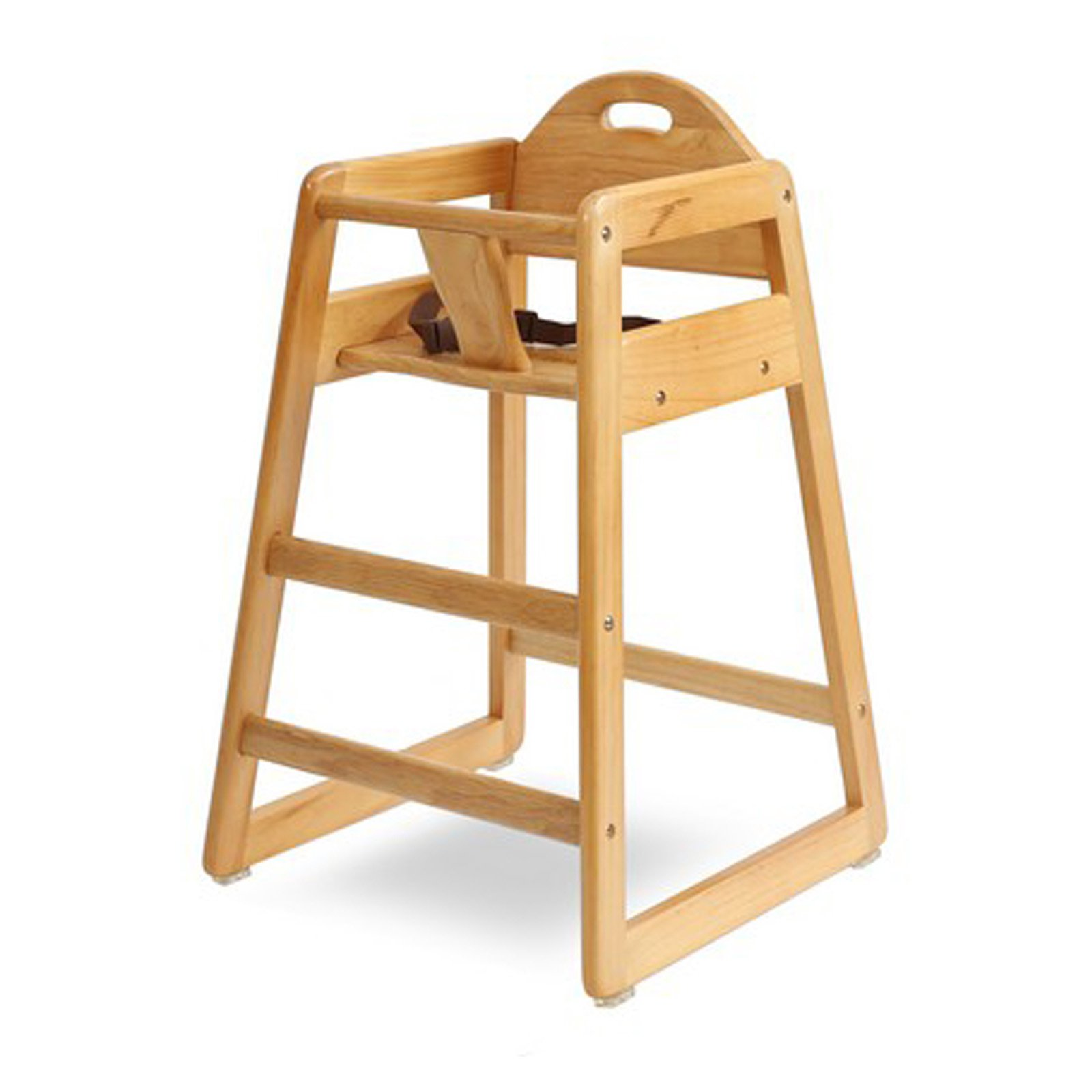 LA Baby Solid Wood High Chair, Natural