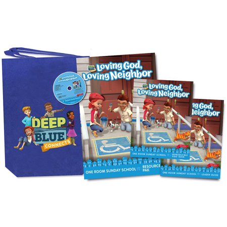 Deep Blue: Deep Blue Connects One Room Sunday School Kit Fall 2019: Loving God, Loving Neighbor Ages 3-12 (Syntheism Creating God In The Internet Age)
