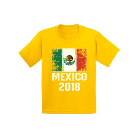 Awkward Styles Mexico 2018 Kids Shirt Mexican Flag Mexican Football Youth Shirt](Kids Football Suits)