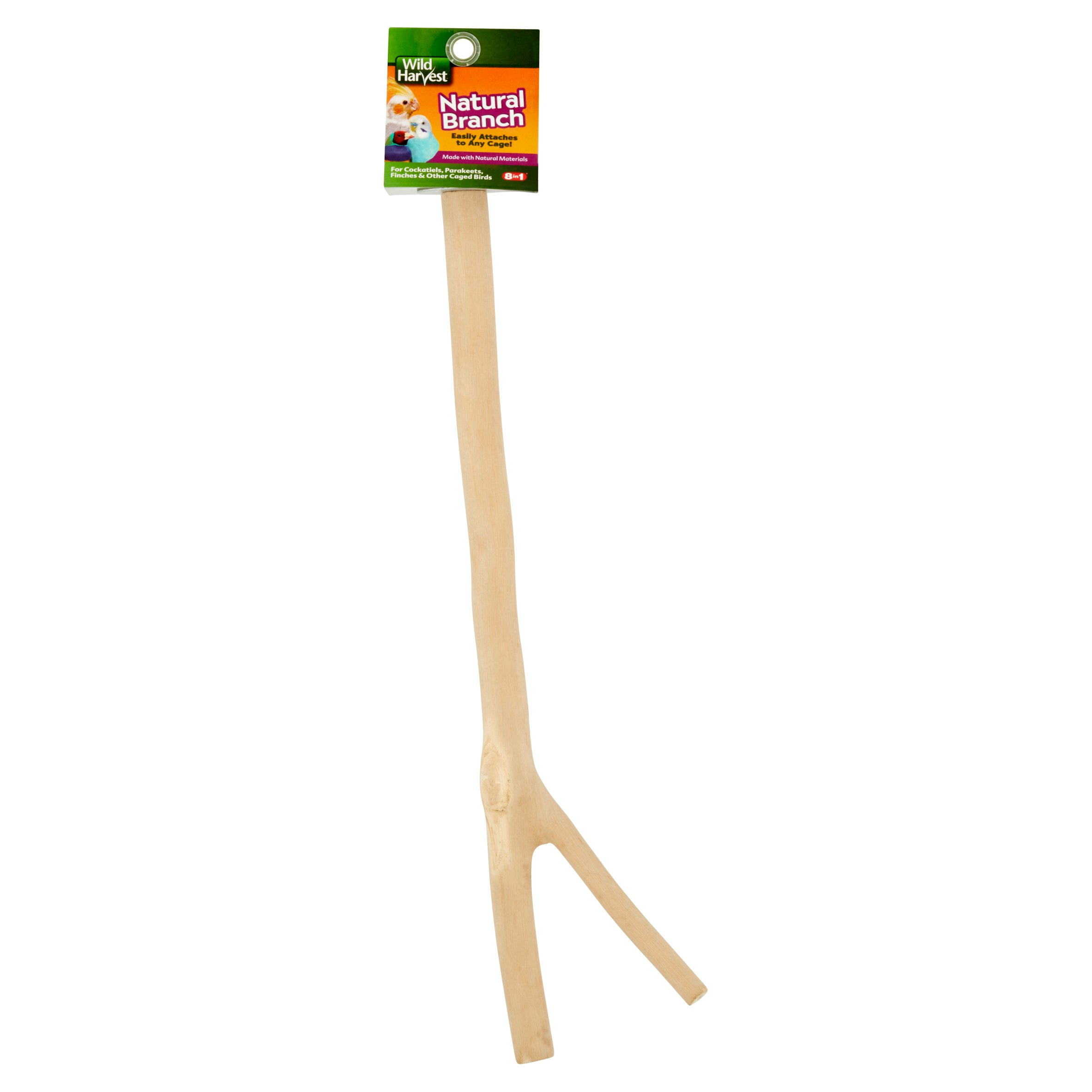 Wild Harvest Natural Branch for Birds, Attachable to Cages