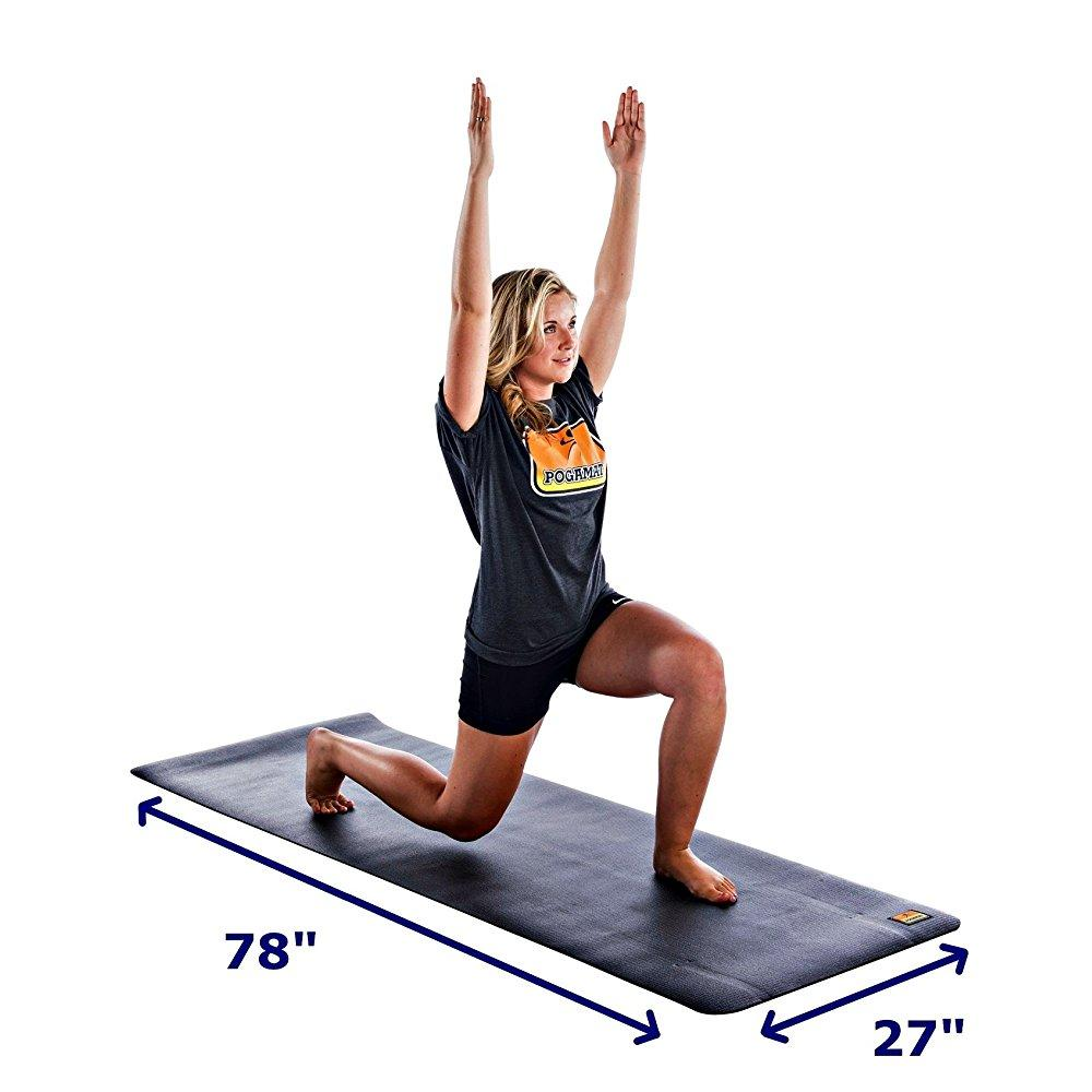 pogamat large yoga mats 78 x 27 x 6.5mm thick high densit...