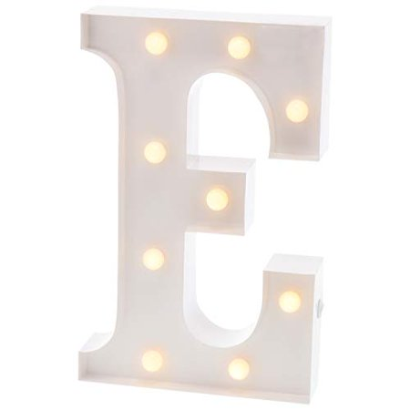 Barnyard Designs Metal Marquee Letter E Light Up Wall Initial Wedding, Bar, Home and Nursery Letter Decoration 12