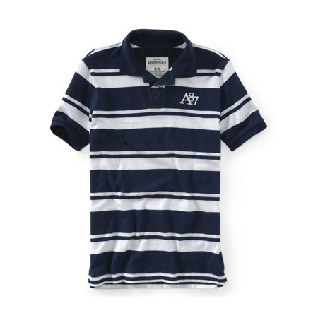 Aeropostale Mens Stripe A87 Rugby Polo Shirt 413 (Aeropostale Polo)