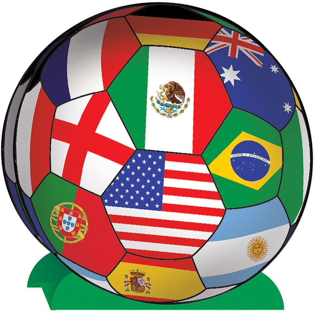 "Soccer International 10"" Centerpiece (Each) - Party Supplies"