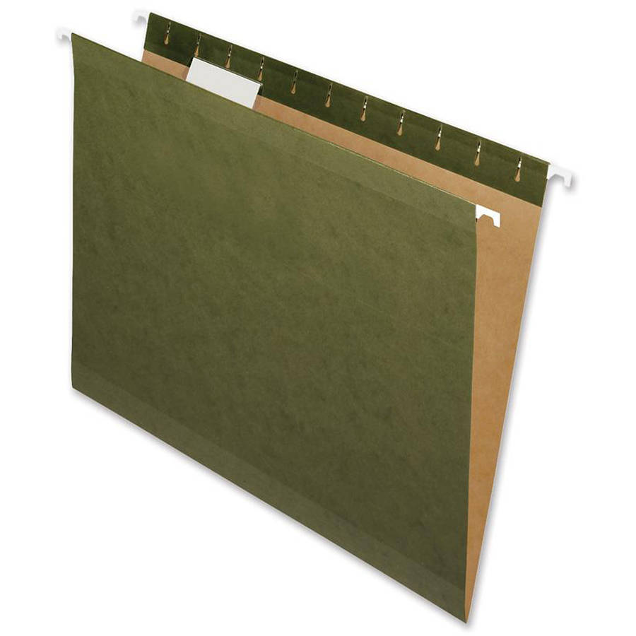 Nature Saver Recycled Letter-size Hanging File Folders, 25 per Box
