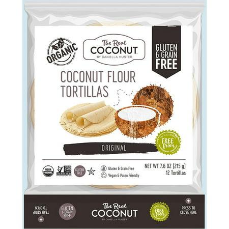 THE REAL COCONUT 12 TORTILLAS COCONUT FLOUR, 7.6 OZ, 4