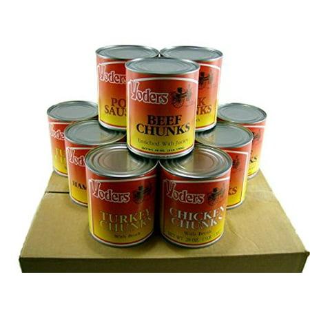 Yoder's Canned Premium Variety Pack (Beef, Chicken, Hamburger, Turkey, Pork, Pork Sausage) 12 Cans/Full Case