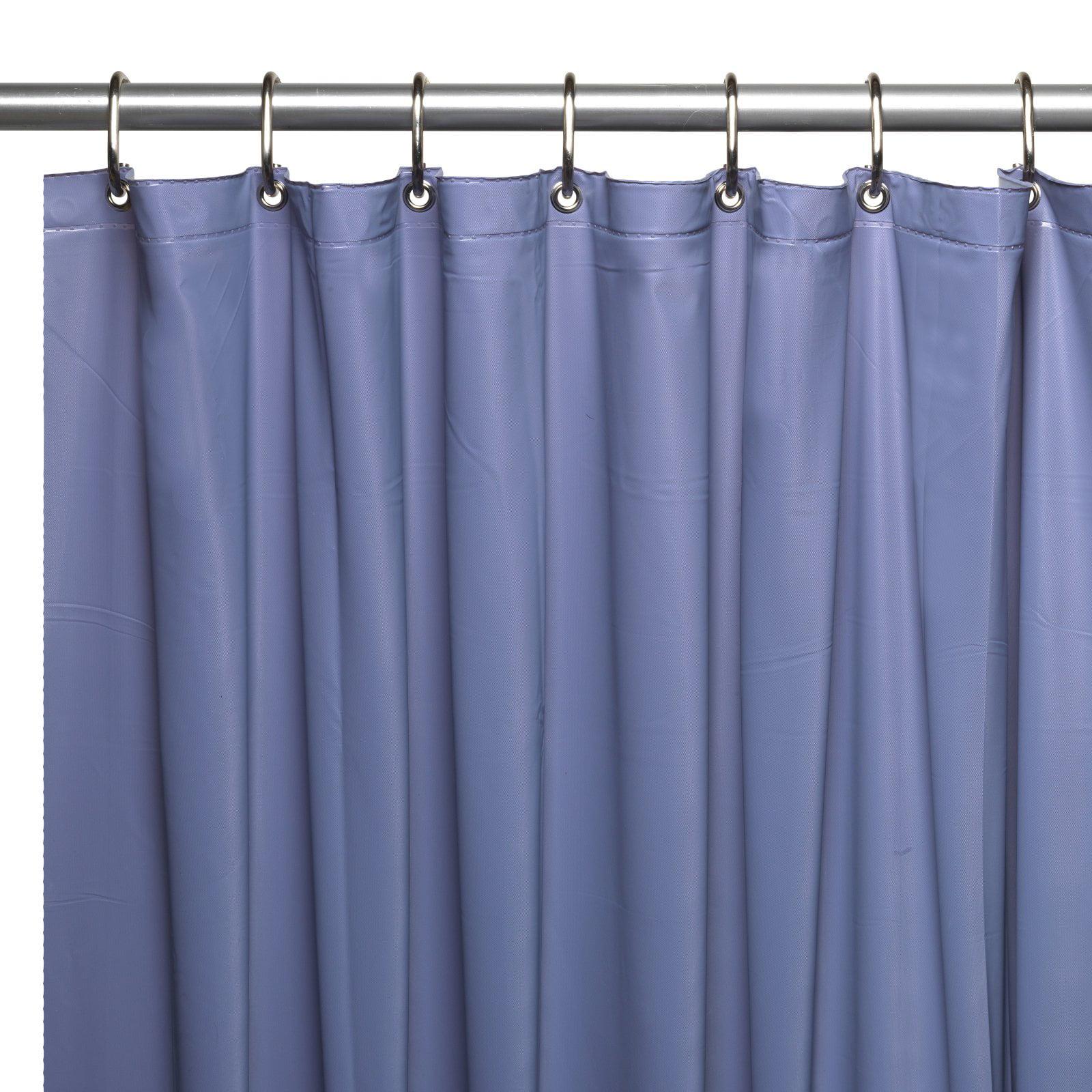Mildew Resistant 10 Gauge Vinyl Shower Curtain Liner W Metal Grommets And Reinforced Mesh Header In Slate