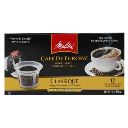 Melitta Hazelnut Coffee (Melitta Cafe de Europa pre fill capsules Classique Supreme)