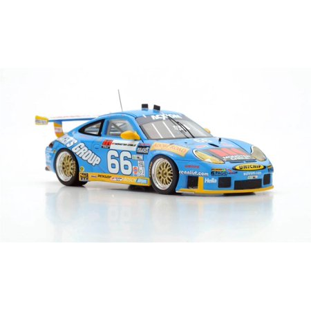 Porsche 911 GT3 RS n.66 Winner 24H Daytona 2003 Resin Model Car in 1:43 Scale by Spark ()