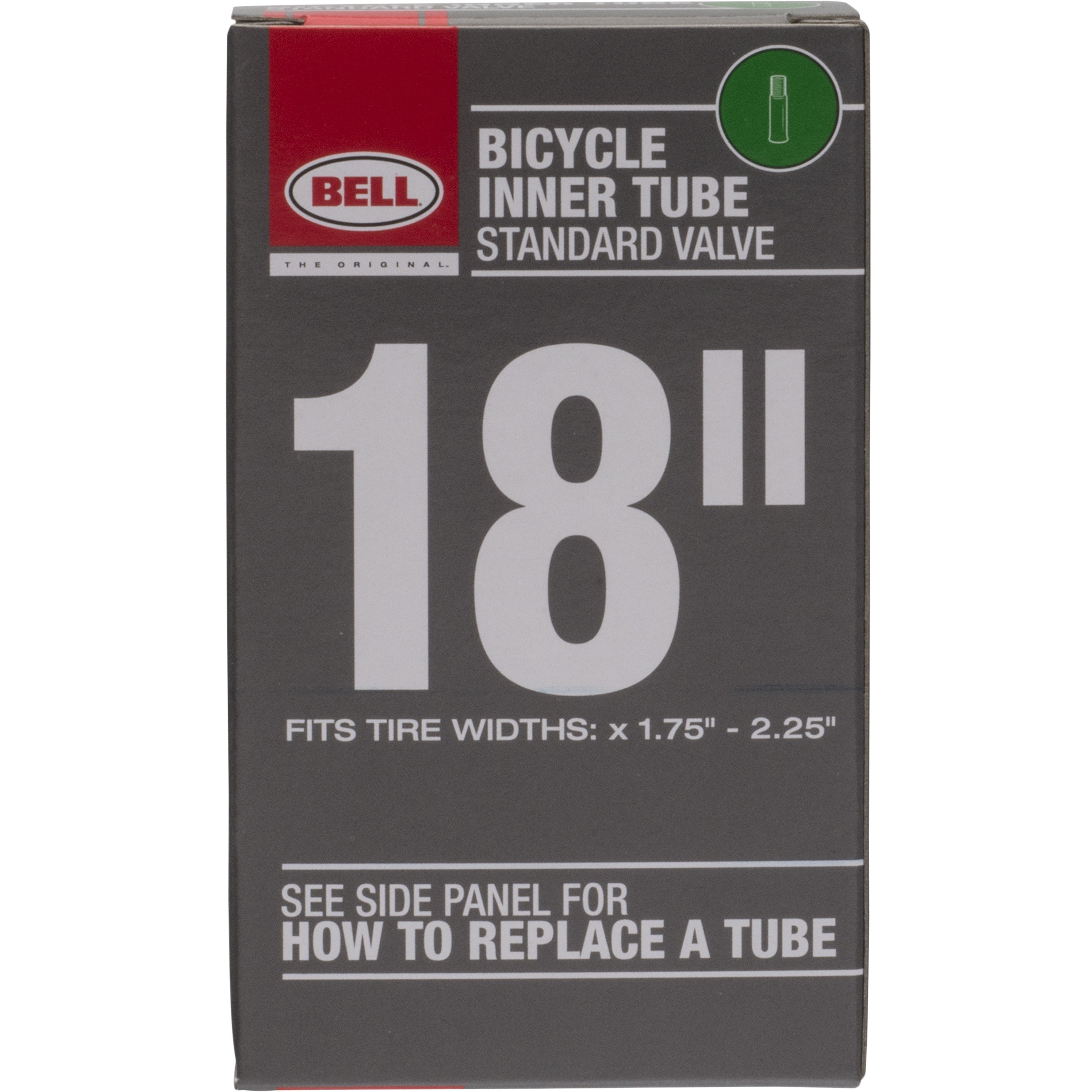 "Bell Sports Standard Schrader Replacement Bicycle Inner Tube, 18"""" x 1.75-2.25"""""