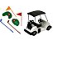 A1BakerySupplies Cake Decorating Kit CupCake Decorating Kit Sports Toys (Golf Kit with Cart - No Golfer)