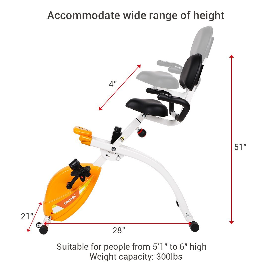 Stupendous Loctek U1 Under Desk Bike Upright Stationary Foldable Exercise Bike Download Free Architecture Designs Intelgarnamadebymaigaardcom
