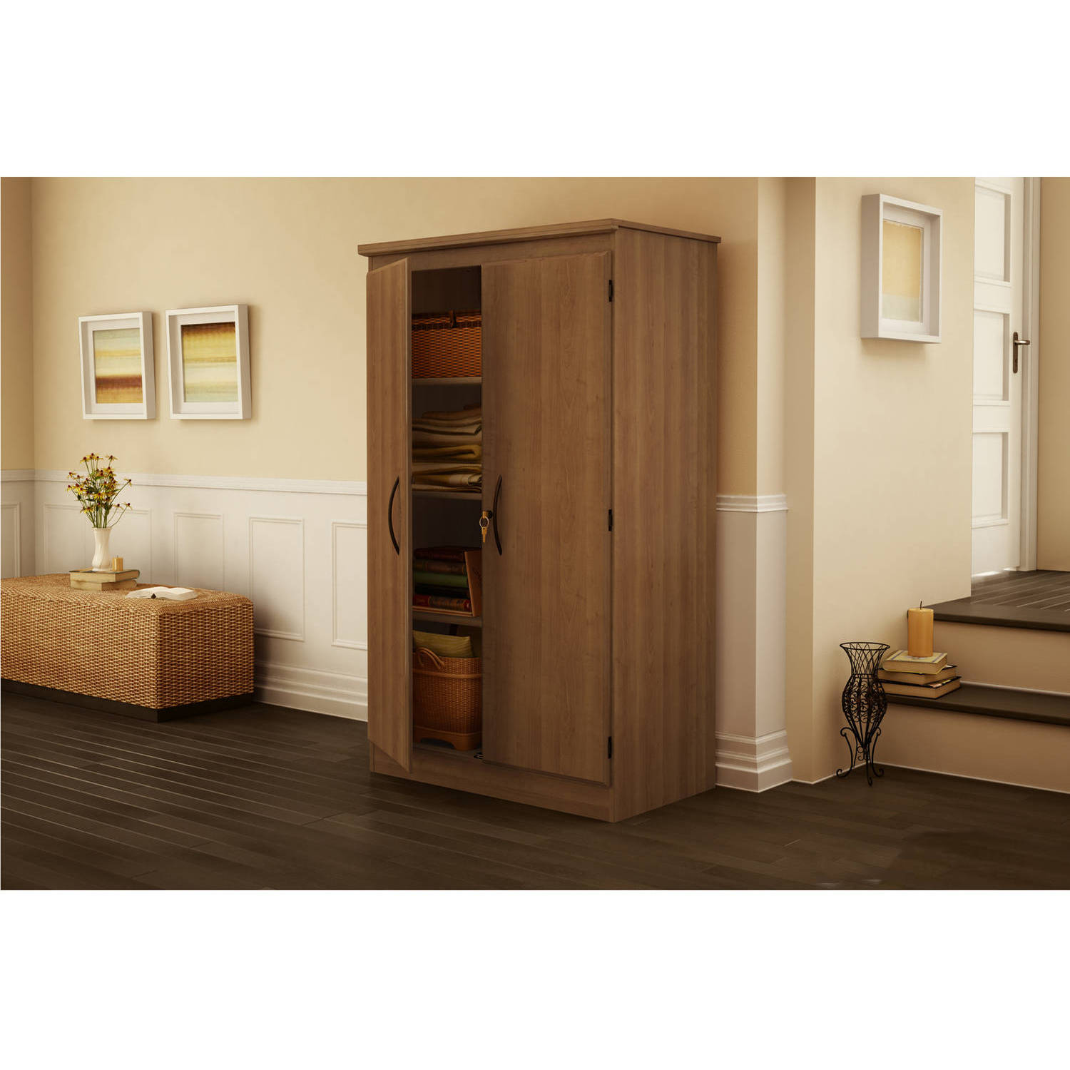South Shore Morgan 2-Door Storage Cabinet, Multiple Finishes ...