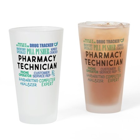 CafePress - Pharmacy Technician Word Cloud - Pint Glass, Drinking Glass, 16 oz. (Glasses With Words)