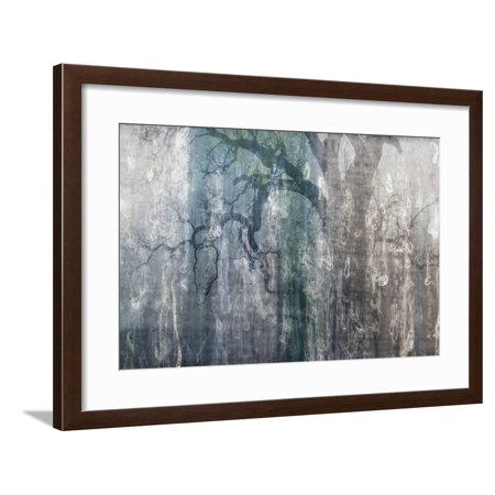USA, California, Carrizo Plain National Monument. Abstract of oak tree and metal Framed Print Wall Art By Jaynes (Metal Oak Tree)