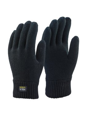 Men's Polar Extreme Insulated Knit Thermal Gloves , Black