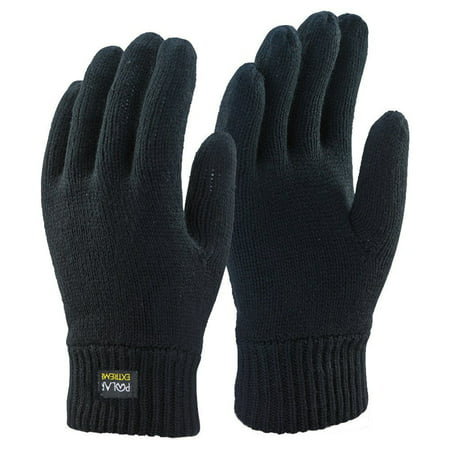 Winter Knits Kit - Winter Gloves For Men | Cold Weather Heated Snow Glove | Men's Knit Insulated Thermal Insulation Black Gloves