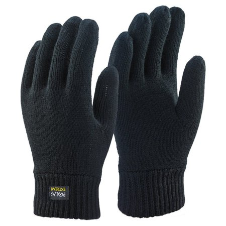 Winter Gloves For Men | Cold Weather Heated Snow Glove | Men's Knit Insulated Thermal Insulation Black
