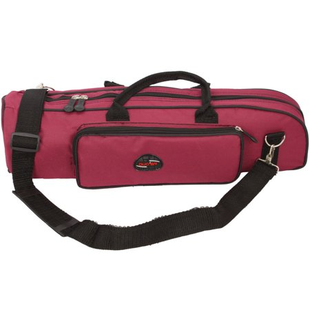 Zimtown Padded Trumpet Soft Case Gig Bag Nylon Black / Rose