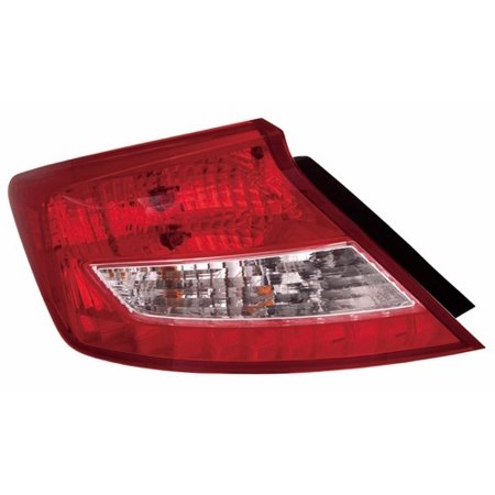 Go-Parts » 2012 - 2013 Honda Civic Rear Tail Light Lamp Assembly / Lens / Cover - Left (Driver) Side - (Coupe) 33550-TS8-A01 HO2800179 Replacement For Honda Civic