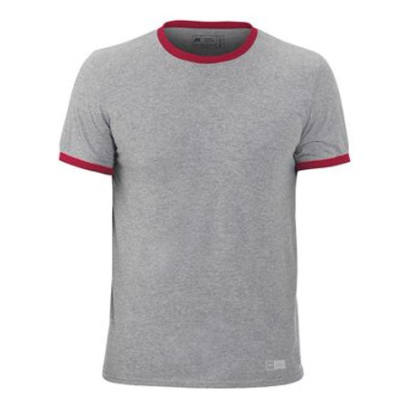 Russell Athletic Short Sleeve Ringer Tee S Oxford/ True Red