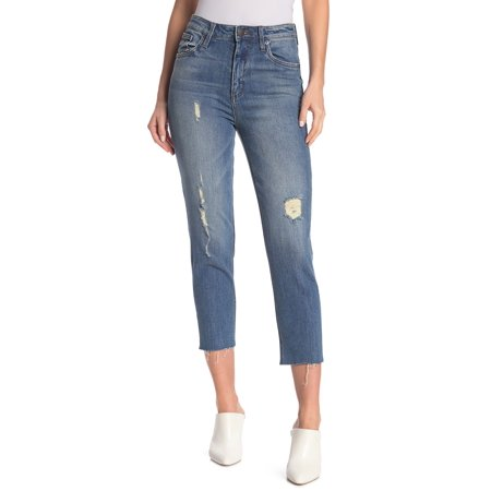 STS Women's Blue Stretch Alicia Frayed Hem Mom Jeans