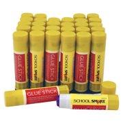 School Smart Non Toxic Washable Glue Sticks, 0.25 oz, 30-Pack